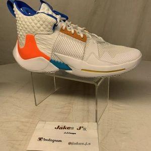 Air Jordan WHY Not ZERO .2 OKC White orange